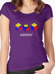 Winning Cubed Women's Fitted Scoop T-Shirt