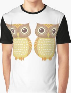 Twin Owls Graphic T-Shirt
