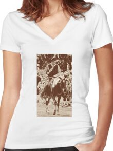 Cattle Drive 19 Women's Fitted V-Neck T-Shirt