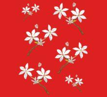 White Wildflower One Piece - Long Sleeve
