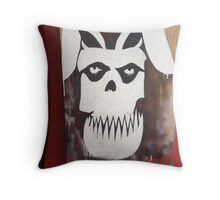 MISFIT BUNNY Throw Pillow