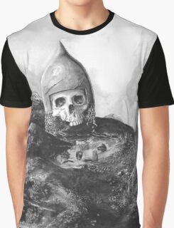 A Knight's Skull Graphic T-Shirt