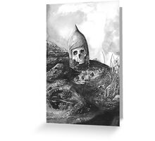 A Knight's Skull Greeting Card