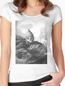 A Knight's Skull Women's Fitted Scoop T-Shirt