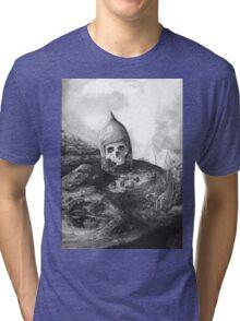 A Knight's Skull Tri-blend T-Shirt