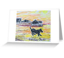 Beach Dog Greeting Card