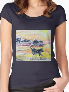 Beach Dog Women's Fitted Scoop T-Shirt
