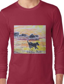 Beach Dog Long Sleeve T-Shirt