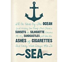 You Be The Anchor... Photographic Print