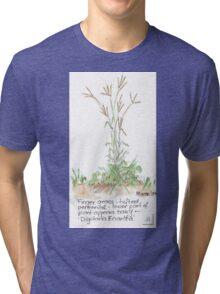 Finger grass - Botanical Tri-blend T-Shirt