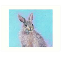 Rabbit painting - Ringo Art Print