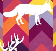 Antlers & Chevrons - Warm Sticker