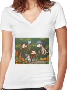 SPN - The Angel's are Watching  Women's Fitted V-Neck T-Shirt