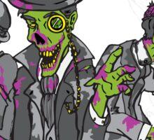 Gentleman Zombies -Black Sticker