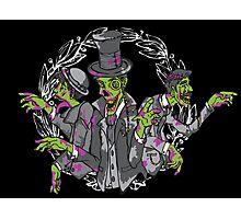 Gentleman Zombies -Black Photographic Print