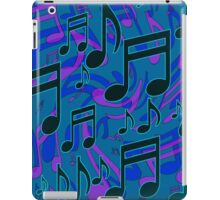 Music Notes Lively Expressive Blue Green iPad Case/Skin