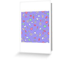 Seamless pattern with hearts.  Greeting Card