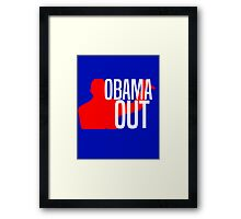 Obama Out Framed Print