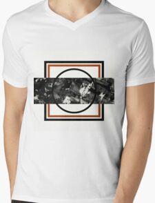 Textured Slice Mens V-Neck T-Shirt