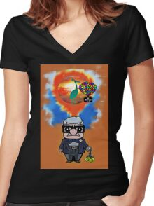 Adventurer is out there  Women's Fitted V-Neck T-Shirt