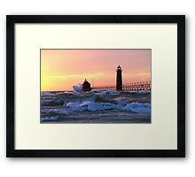 Grand Haven at Sunset Framed Print