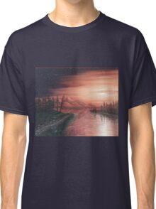 As Night Descends on Kennedy Lake Classic T-Shirt