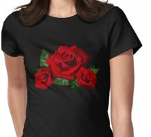 Red Roses - Bouquet Flowers Womens Fitted T-Shirt