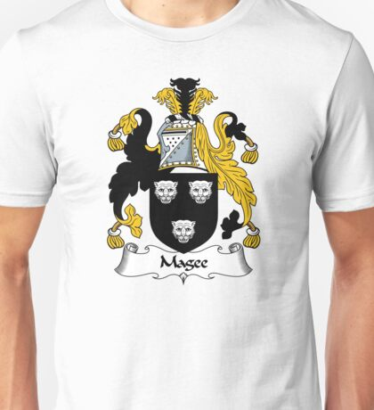Magee Coat of Arms / Magee Family Crest Unisex T-Shirt