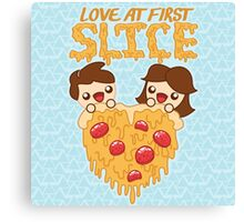 Love At First Slice Canvas Print