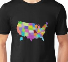 America map in water color Unisex T-Shirt