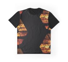 C is for CLOUDS - Geometric Abstract Sunset Geometry Art Graphic T-Shirt
