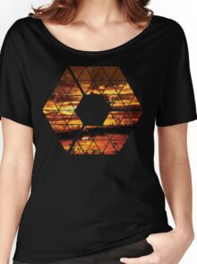 C is for CLOUDS - Geometric Abstract Sunset Geometry Art Women's Relaxed Fit T-Shirt