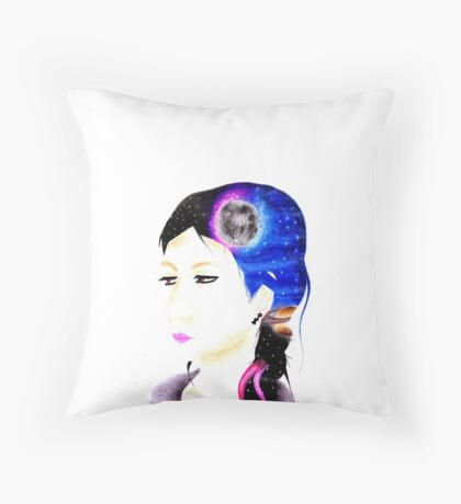 Head Space Throw Pillow