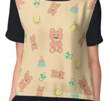Seamless pattern with toys Chiffon Top