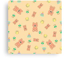 Seamless pattern with toys Canvas Print