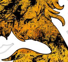 Lion Heraldry Griffin - Heraldic Grungy Sticker