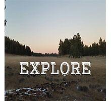 Explore Meadow Photographic Print