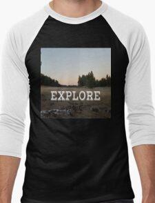 Explore Meadow Men's Baseball ¾ T-Shirt