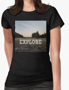 Explore Meadow Womens Fitted T-Shirt