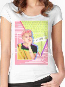 VIXX Ken Cute Blonde Main Vocal Women's Fitted Scoop T-Shirt