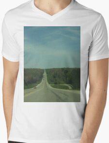 Going Down A Hill                                   Pentax Digital Camera  Mens V-Neck T-Shirt