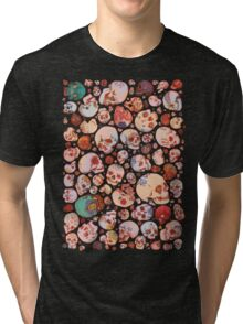 Skull Doodles Tri-blend T-Shirt