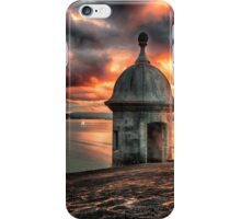 San Juan Bay Sunset with a Sentry Post iPhone Case/Skin
