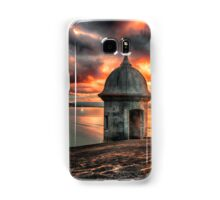 San Juan Bay Sunset with a Sentry Post Samsung Galaxy Case/Skin
