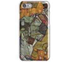 Egon Schiele - Crescent of Houses II Island Town 1915 Egon Schiele   Landscape iPhone Case/Skin