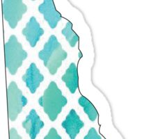 Delaware Teal Sticker