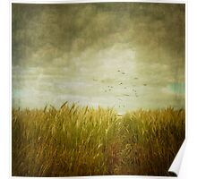 Vintage Wheat Field Poster