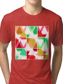 Seamless triangle bright pattern background geometric abstract texture Tri-blend T-Shirt