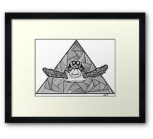 Geometric Turtle Framed Print
