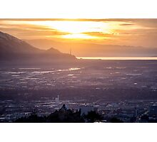 Salt Lake City Sunset Photographic Print